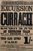 Irish Horse Racing Railway Timetable Poster, Excursions to the Curragh, Ireland